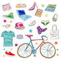 Urban hipster accessories Royalty Free Stock Image