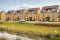 Urban housing new inner city detached development Royalty Free Stock Images
