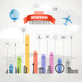 Urban infographic elements color collection Stock Photography