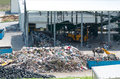 Urban landfill. Waste treatment plant depot. Royalty Free Stock Photo