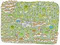 Urban Landscape Maze Game Royalty Free Stock Photo