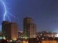 Urban lightning strike Royalty Free Stock Photo