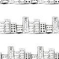 Urban Line Landscape Ink Imita...