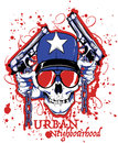 Urban neighbourhood skull and guns Royalty Free Stock Photography