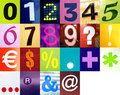 Urban Numbers Royalty Free Stock Photo