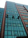 Urban Rappelling Stock Photo