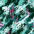 Urban rider abstract camouflage wallpaper Royalty Free Stock Photo