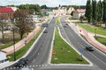 Urban road gorzow wielkopolski poland Royalty Free Stock Photo