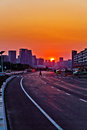 Urban Road Sunset