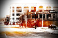 Urban scene at Chicago Royalty Free Stock Photo