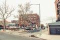 Urban scene on a muggy day in williamsburg brooklyn Stock Photo