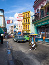 Urban scene in a well known street in Havana Stock Photography