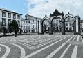 Urban scenery at ponta delgada capital city of the azores sao miguel island Royalty Free Stock Photos