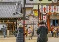 Urban Shintoism Temple, Osaka, Japan Royalty Free Stock Photo