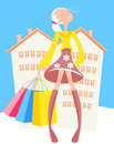 Urban Shopping Royalty Free Stock Images