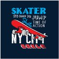 Urban skateboard artistic for t shirt