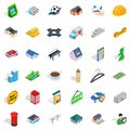 Urban space icons set, isometric style Royalty Free Stock Photo