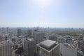 Urban sprawl cityscape with Toshima and Shinjuku wards Royalty Free Stock Photo