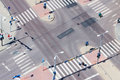 Urban street traffic and pedestrian crossing Stock Photography