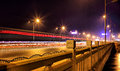 Urban traffic after nightfall A long exposure photo on a highway in china Royalty Free Stock Photo
