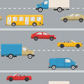 Urban transport seamless pattern