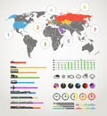 Urban transportation scheme infographic elements collection Royalty Free Stock Photo