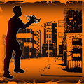 Urban Trumpeter Royalty Free Stock Photo