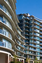 Urban view - condominium or apartment building Stock Images