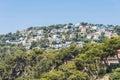 Urbanization of luxury home spain on the mediterranean coast in costa brava catalonia Royalty Free Stock Images