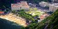 Urca aerial view of buildings on the beach rio de janeiro brazil Stock Images