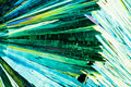Urea or carbamide crystals in polarized light Stock Photography