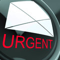 Urgent envelope means high priority or very important mail meaning Royalty Free Stock Photography