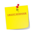 Urgent Reminder Sticky Note With Pin Royalty Free Stock Photo