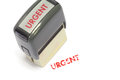 Urgent Stamp Royalty Free Stock Photos