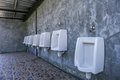 Urinal row Royalty Free Stock Photo