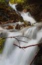 Urlatoarea waterfall with the milky water effect and stones