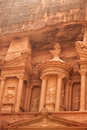 The urn atop the treasury in petra jordan Stock Photos