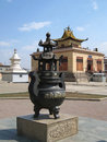 Urn at Gandan Khiid Monastery Royalty Free Stock Photography