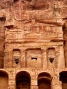 Urn Tomb in Petra rock city. Jordan. Royalty Free Stock Image