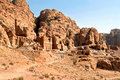 Urn Tombs in Wadi al-Farasa valley, Petra Royalty Free Stock Images