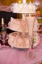 uroczysty świeczka kulebiak Zdjęcia Royalty Free
