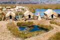 Uros Islands - Lake Titicaca - Peru Royalty Free Stock Photo