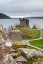 Urquhart castle near inverness scotland Stock Photos