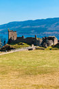 Urquhart castle remains of the on the shore of loch ness in northern scotland Royalty Free Stock Photo