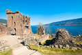 Urquhart castle remains of the on the shore of loch ness in northern scotland Stock Photography