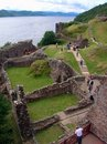 Urquhart Castle ruins Royalty Free Stock Photo