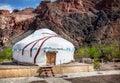 Urta nomadic house in charyn grand canyon kazakhstan Royalty Free Stock Images