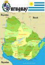 Uruguay Map. Stock Photography