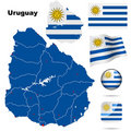 Uruguay set. Royalty Free Stock Photo