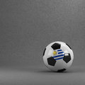 Uruguay soccer ball uruguayan in front of plaster wall Royalty Free Stock Image